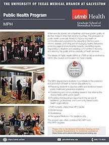 GSBS MPH Program flyer